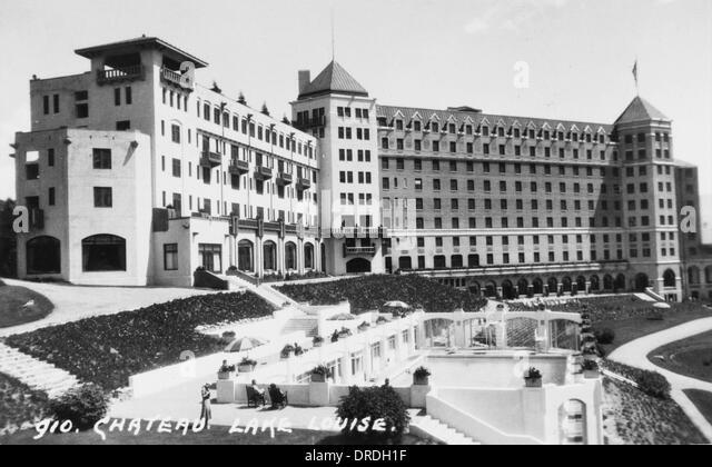 Hotel Chateau Lake Lousie, Canada - Stock Image