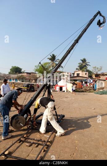 Used Jimmy Jib Crane : Film city mumbai stock photos