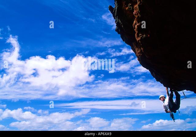 REF 00763 Rock climbing Photo Jon Nash Buzz Pictures - Stock Image
