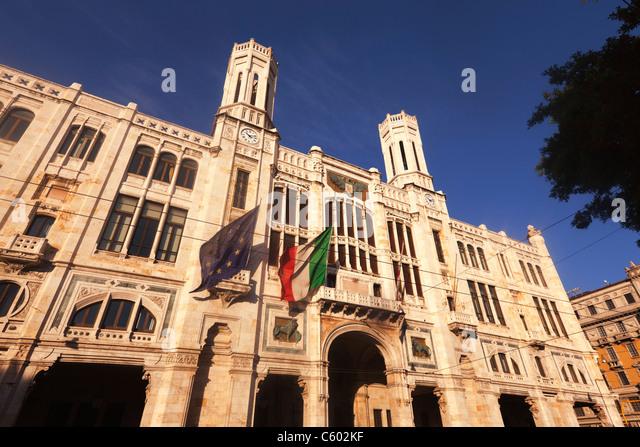 City Hall, Cagliari , Italy Sardinia - Stock Image