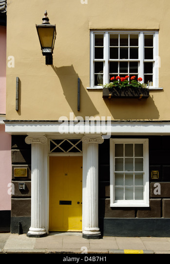 Doorway in Norwich, England - Stock Image