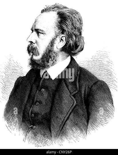 Gustav Richter, also known as Gustavus Richter, 1838 - 1904, a German philologist and historian, historical engraving, - Stock Image