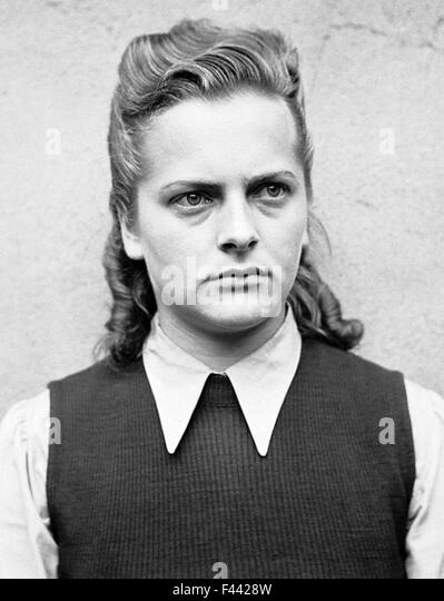 Irma Grese, Irma Ida Ilse Grese, female SS guard at the Nazi concentration camps of Ravensbrück and Auschwitz, - Stock-Bilder