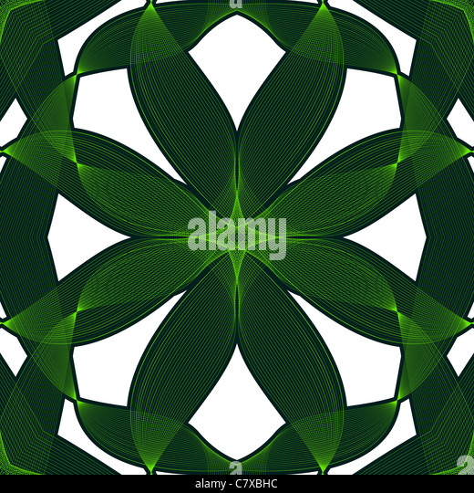 wavy green background, abstract seamless texture; vector art illustration - Stock-Bilder