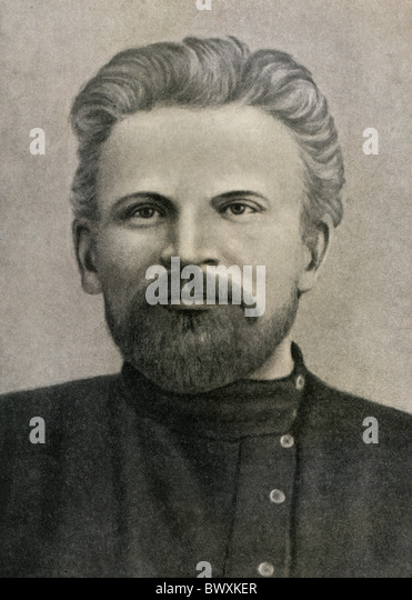 Mikhail Kalinin, 1910. Photo from the collection of State Museum of Revolution, the Soviet Union. - Stock Image