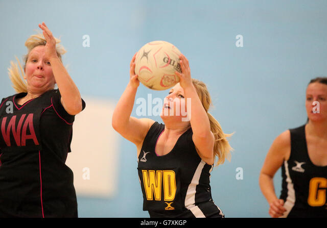 Netball England - Back to Netball Event - Mapperley Sports Village - Nottingham - Stock Image