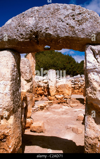 Talayotic archaeological site of Torre d en Gaumes near Alaior Menorca Spanish Balearic islands - Stock Image