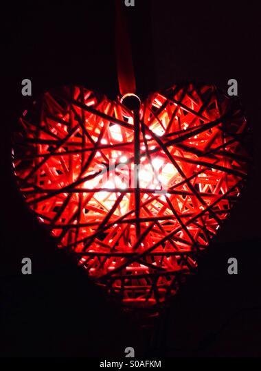 Heart shaped light - Stock Image