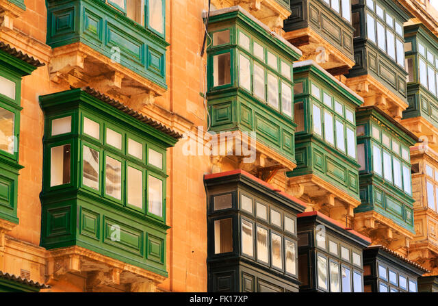 Maltese balconies stock photos maltese balconies stock for Traditional balconies