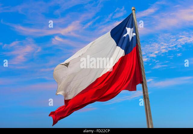 Chilean Flag, Santiago, Chile - Stock-Bilder