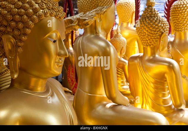 Buddha statues, Bangkok, Thailand - Stock Image