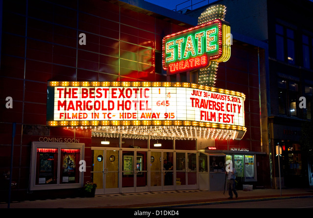 Marquee sign stock photos marquee sign stock images alamy for Craft shows in traverse city mi