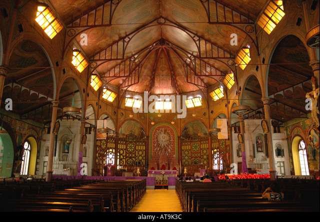 Castries St Lucia Cathedral of the Immaculate Conception interior - Stock Image