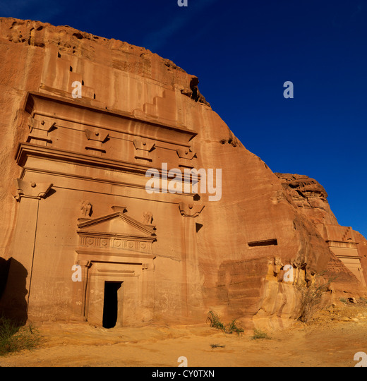 Madain Saleh Archaeologic Site, Saudi Arabia - Stock Image