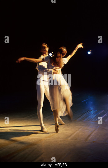 Latvia Riga theater Cinderella ballet dancers classical arts performance stage - Stock Image