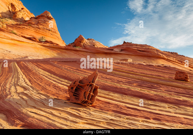 Rock formations in the North Coyote Buttes, part of the Vermilion Cliffs National Monument. Also known as The Boneyard - Stock-Bilder