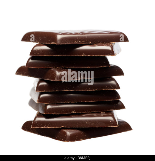 Stack of after eight dinner dark chocolate mints closeup cutout - Stock Image