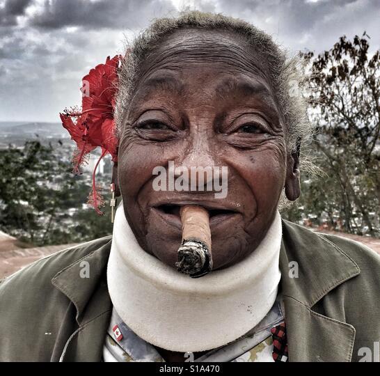 Cuba lady - Stock-Bilder