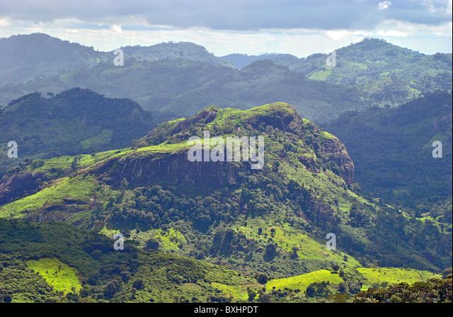 Rugged landscape near Man, Ivory Coast, West Africa - Stock-Bilder