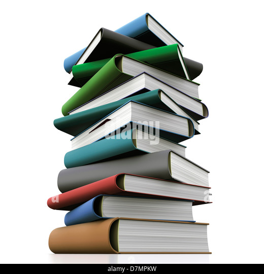 Books, artwork - Stock Image
