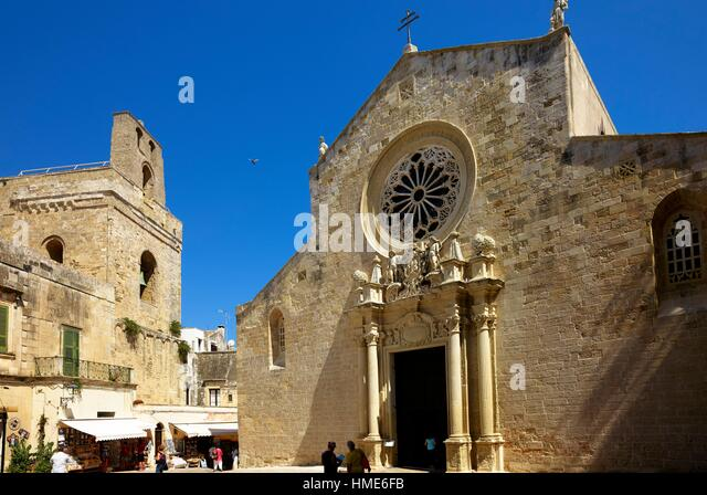 Otranto, Apulia, Italy. The Cathedral, consecrated in 1088, a work of Count Roger I adorned later (about 1163), - Stock Image