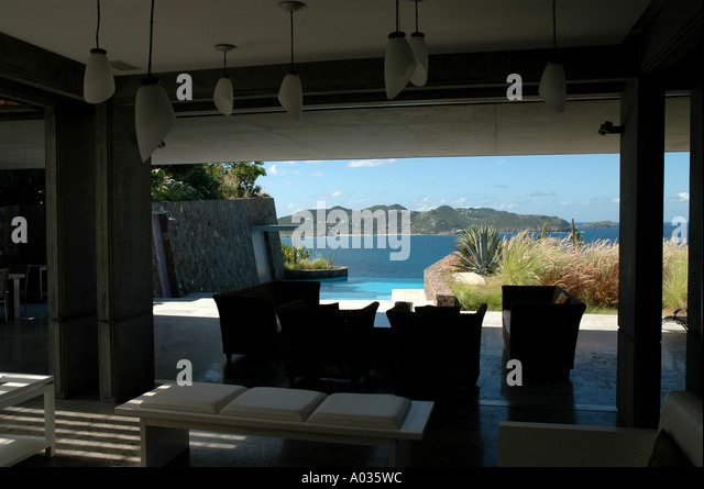 St Barths St Barts Private Villa Pool - Stock Image