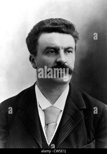 Portrait of Guy de Maupassant (1850-1893) - Stock-Bilder