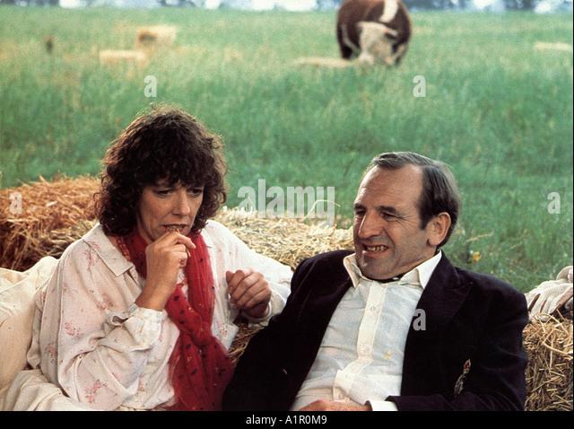 RISING DAMP UK TV series with Leonard Rossiter and Frances de la Tour - Stock Image