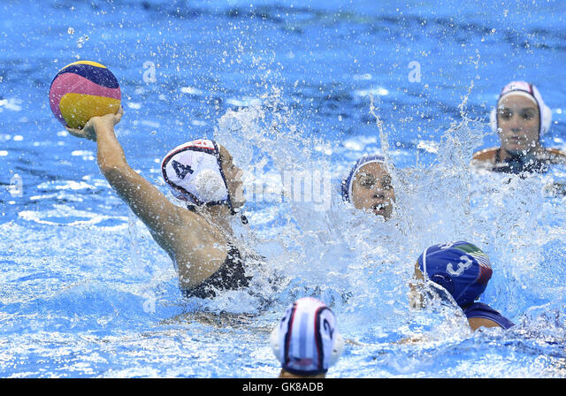 Rio De Janeiro, Brazil. 19th Aug, 2016. Rachel Fattal (L) of the United States of America competes during the women's - Stock-Bilder