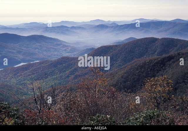 Fall Colors Great Smoky Mountains - Stock Image