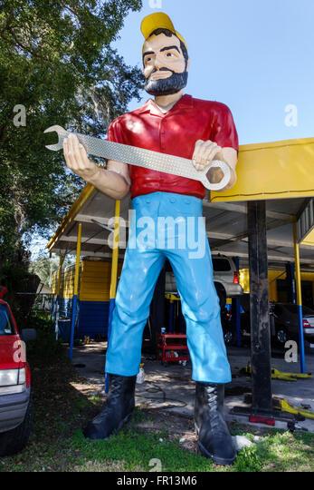 Florida FL Dade City Paul Bunyan Muffler Man roadside attraction giant statue - Stock Image