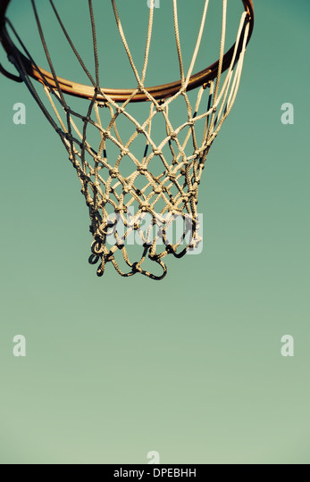 Detail of a basketball hoop - Stock Image