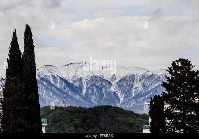 Caucasus Mountains, Sochi - Stock Image
