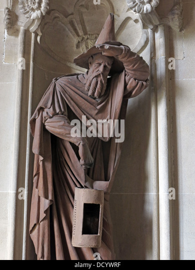 An iron statue of a wizard at Waddesdon Manor NT, Bucks, England, UK - Stock Image
