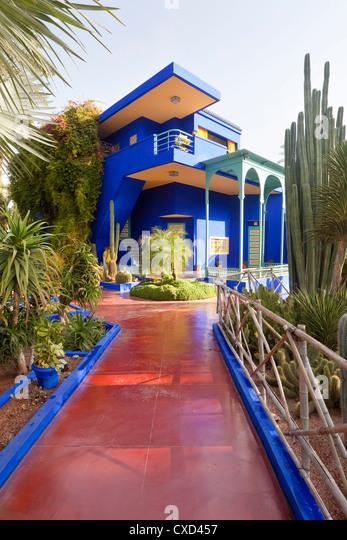 Majorelle Gardens, Marrakesh, Morocco, North Africa, Africa - Stock Image