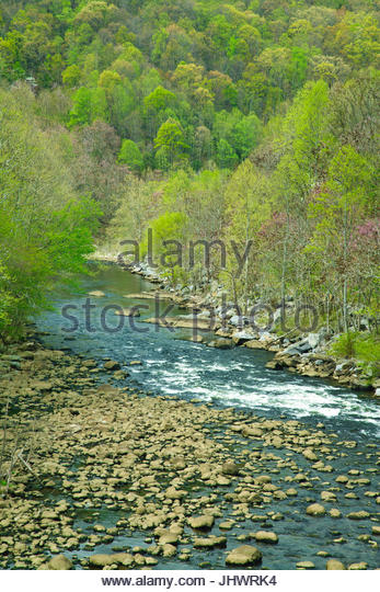 Pigeon River in East Tennessee - Stock Image