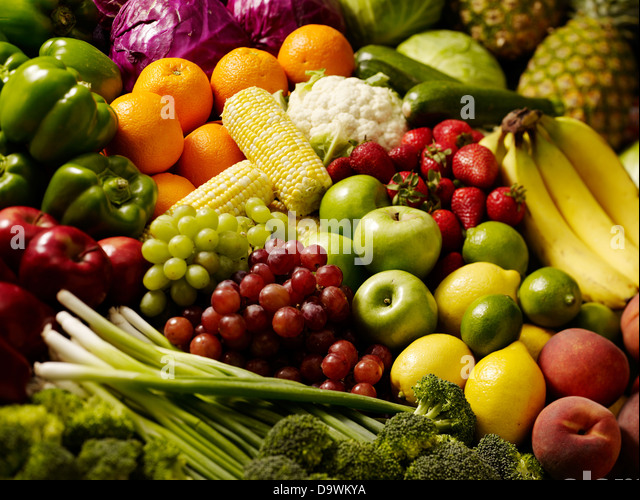 classic fruit stand - Stock Image