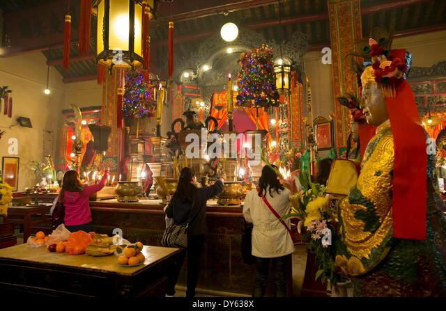 Man Mo Temple, Hollywood Road, Sheung Wan, Hong Kong, China, Asia - Stock Image
