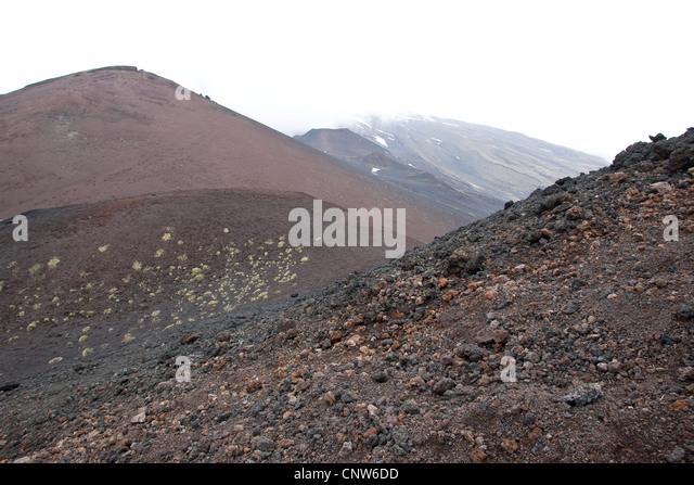 volcanic landscapes at Mount Etna, Italy, Sicilia - Stock-Bilder