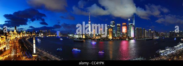 Cityscape of Shanghai, China - Stock Image