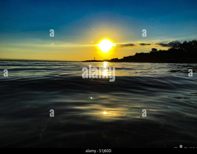 Honeymoon sunset - Stock Image