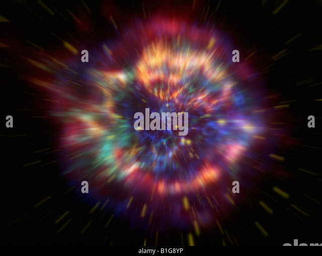 Explosion in Space - Stock Image