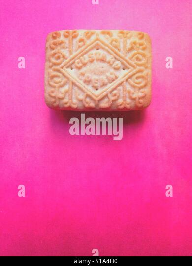 Custard cream biscuit - Stock-Bilder