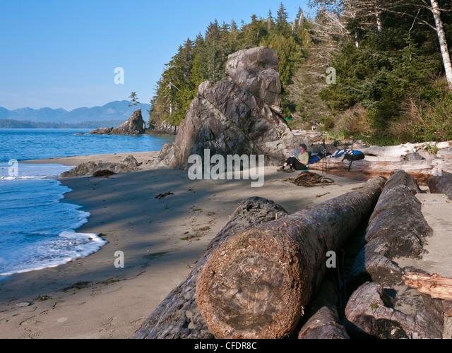 Brady's Beach on the southwest coast of Vancouver Island, Britis Columbia, Canada - Stock-Bilder