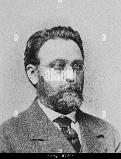 Albert Hermann Dietrich, 1829 - 1908, was a German composer and conductor, reproduction photo from the year 1895, - Stock Image