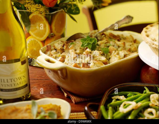 in scene meal - Stock Image