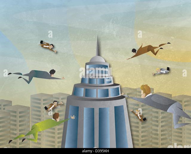 Conceptual illustration of business attraction - Stock-Bilder