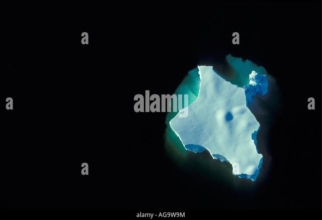 Antarctica Floating ice floe or iceberg - Stock Image