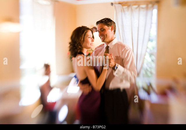 Couple slow dancing romantic