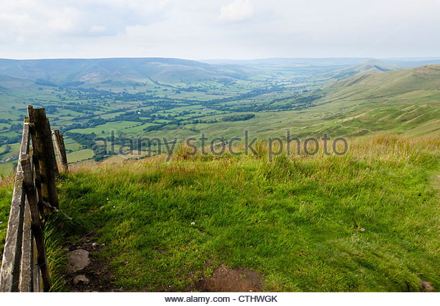 The Vale of Edale, Derbyshire in the Peak District countryside, England, UK. - Stock Image